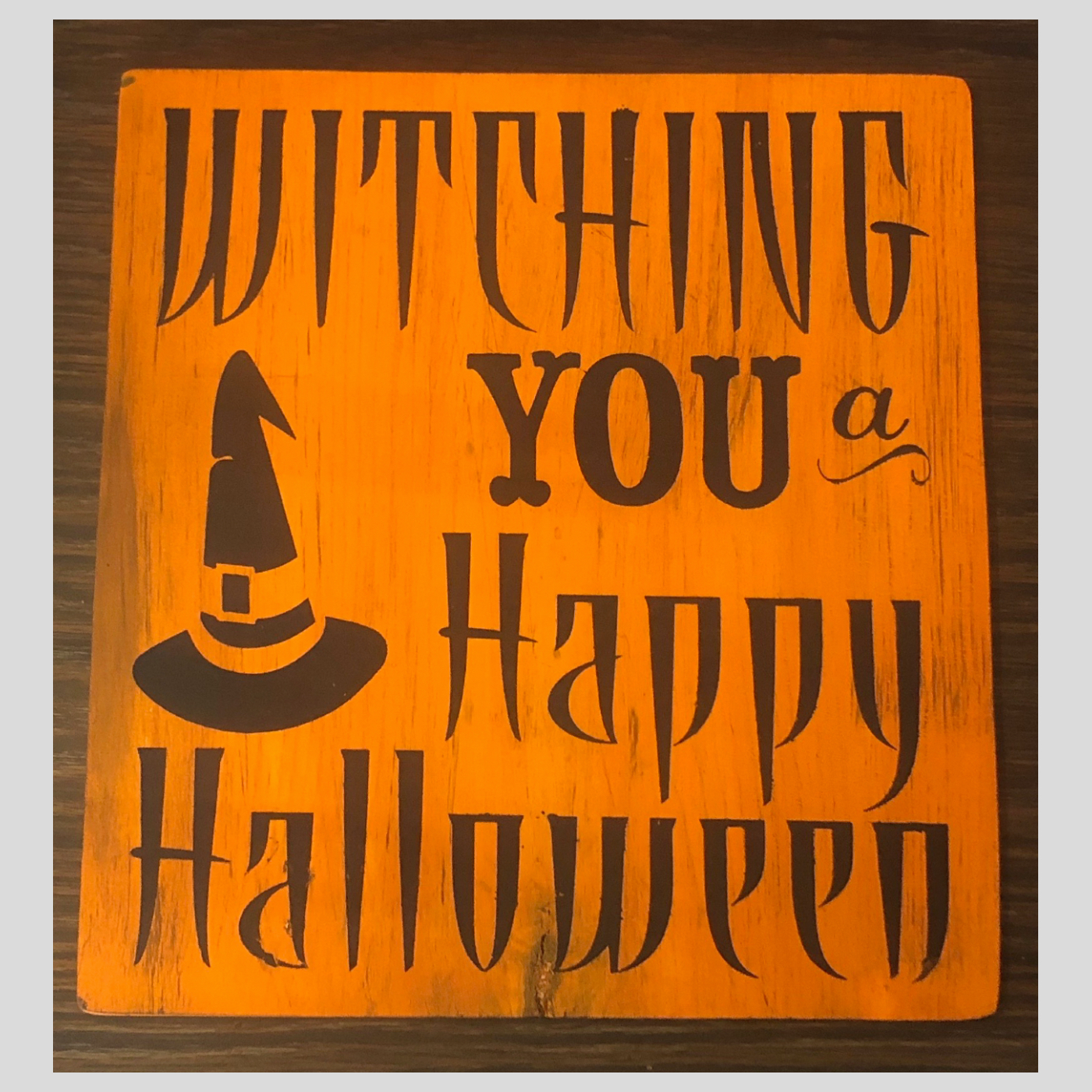 Witching You a Happy Halloween DIY Wood Sign Bethlehem PA