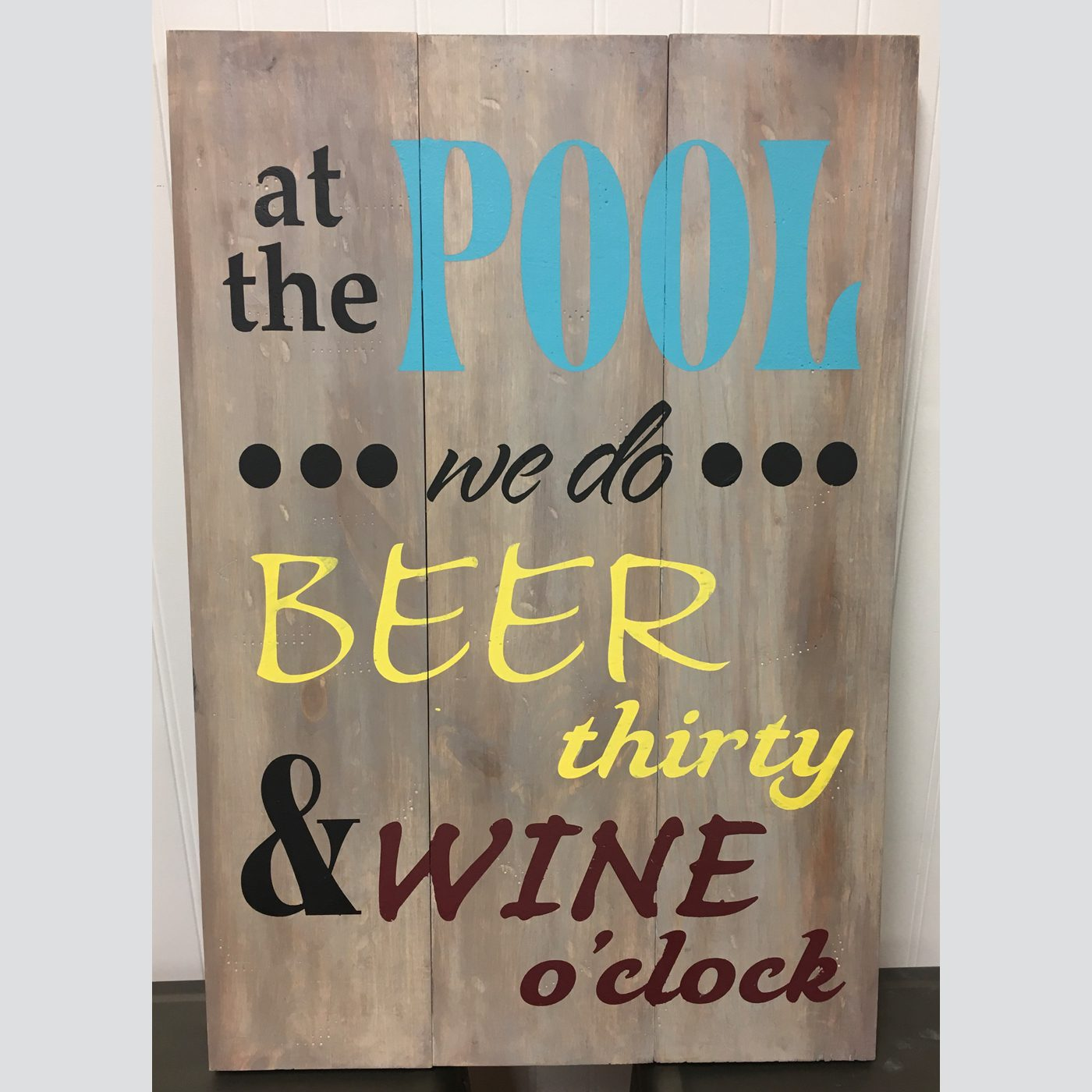 At the Pool DIY Wood Sign