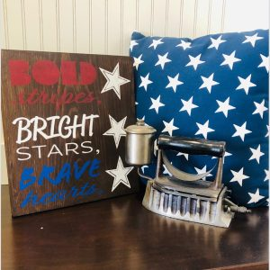 Bold, Bright, Brave DIY wood sign patriotic