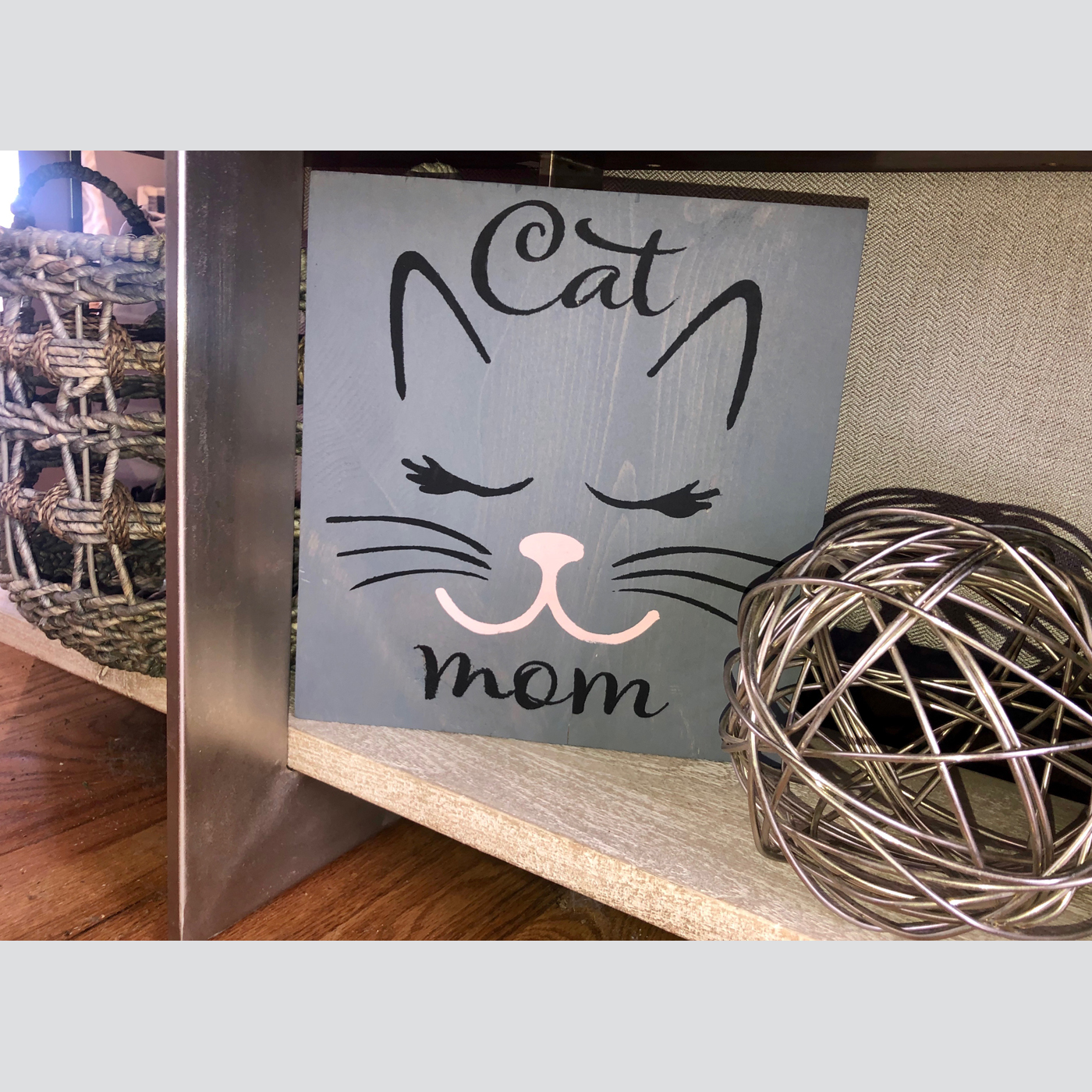 Cat Mom DIY wood signs