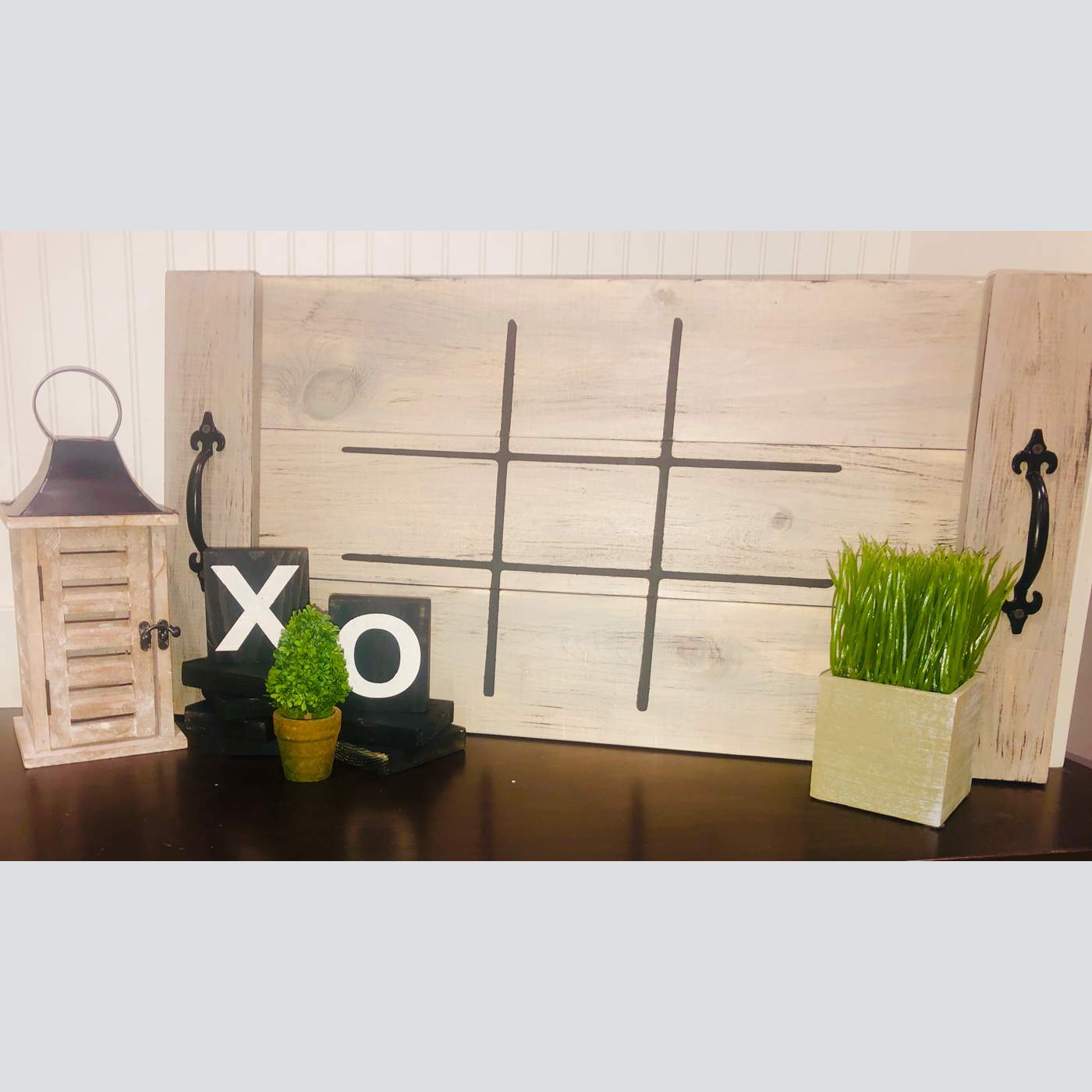 Tic Tac Toe DIY wood sign outdoor games
