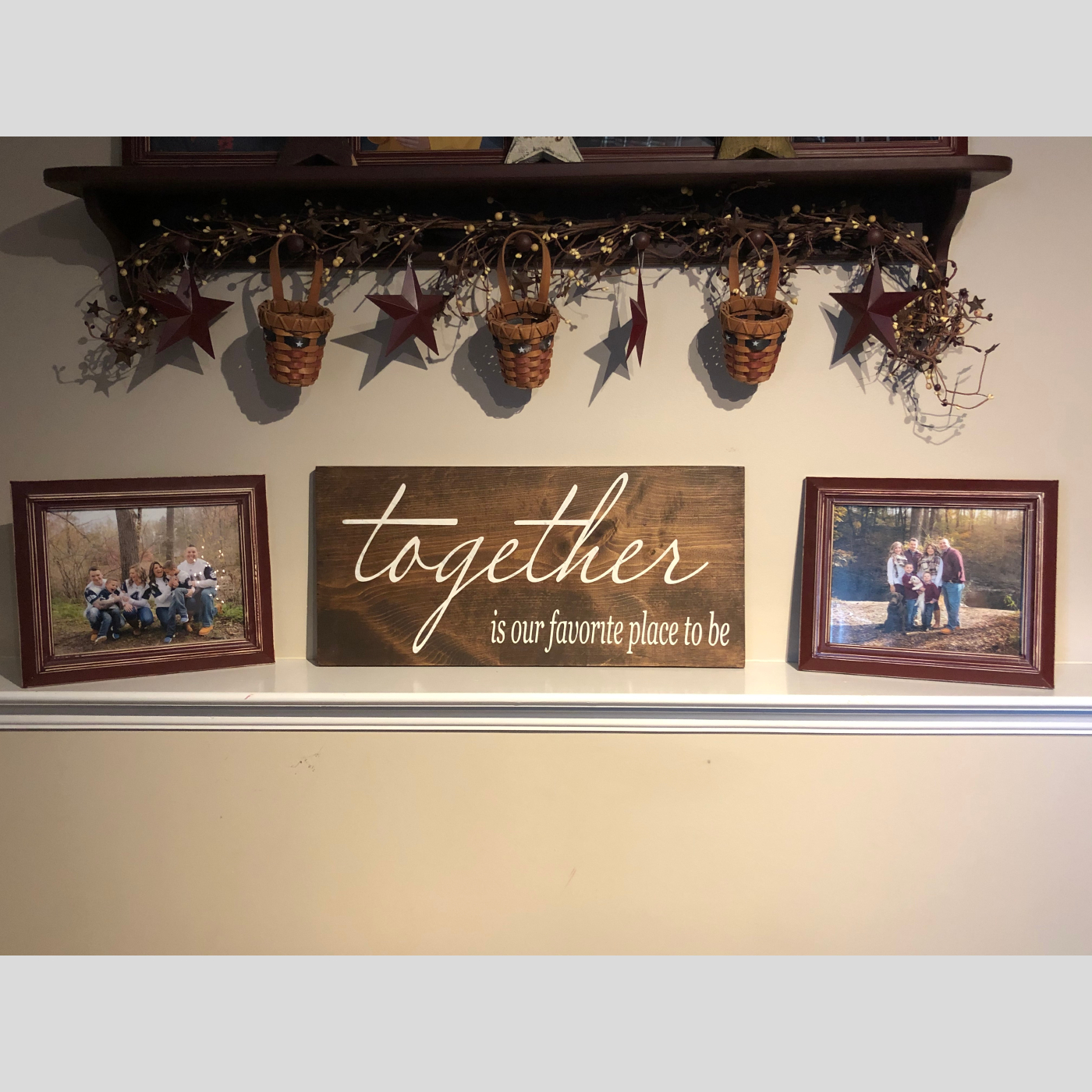 Together is our Favorite Place to be DIY wood sign